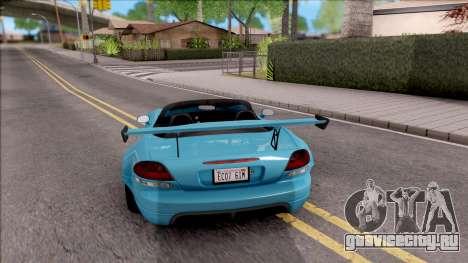 Dodge Viper SRT-10 Widebody 2003 для GTA San Andreas вид сзади слева