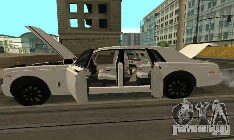 Rolls-Royce Phantom Armenian для GTA San Andreas вид изнутри