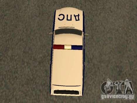ГАЗ 310221 ДПС Полиция для GTA San Andreas вид сзади