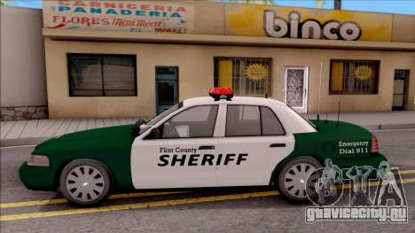 Ford Crown Victoria Flint County Sheriff 2010 для GTA San Andreas вид слева