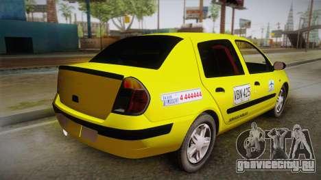 Renault Symbol Taxi для GTA San Andreas вид слева