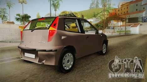 Fiat Punto 2002 для GTA San Andreas вид сзади слева