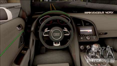 Audi R8 Spyder Angel Beats для GTA San Andreas вид изнутри