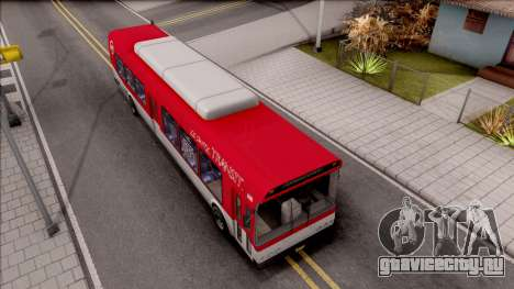 GTA V Brute Bus IVF для GTA San Andreas вид справа