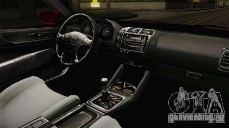 Honda Civic EK9 Stance для GTA San Andreas вид изнутри