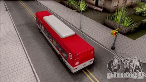 GTA V Brute Bus IVF для GTA San Andreas вид сзади