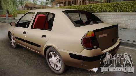 Renault Symbol для GTA San Andreas вид слева