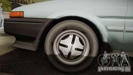 Toyota Corolla AE86 для GTA San Andreas вид изнутри