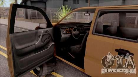 Declasse Granger 4x4 для GTA San Andreas вид изнутри