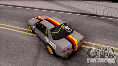 Nissan Skyline R32 Drift Falken Germany для GTA San Andreas вид сзади