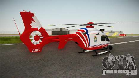 Airbus Eurocopter EC-135 YRP для GTA San Andreas вид слева