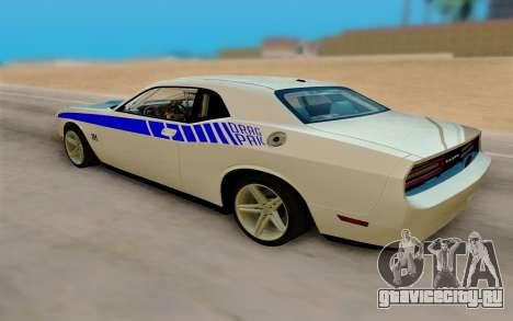 Dodge Challenger Drag Pak Supercharged для GTA San Andreas вид слева