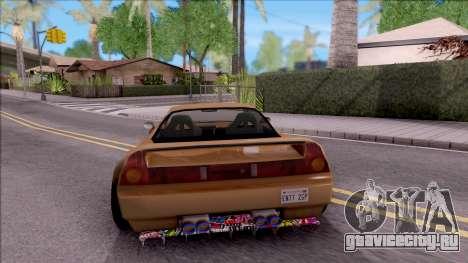 Infernus Tuning для GTA San Andreas вид сзади слева