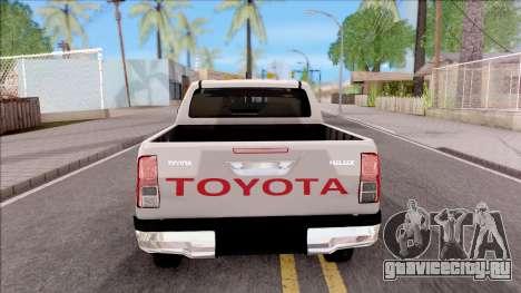 Toyota Hilux 2016 для GTA San Andreas вид сзади слева