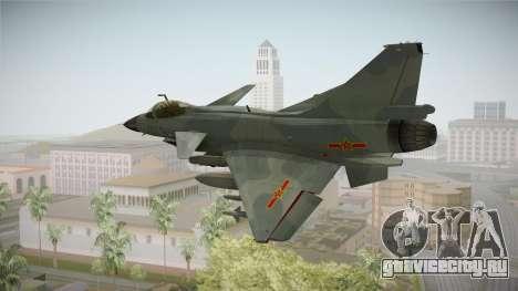 Chengdu J-10 Vigorous Dragon для GTA San Andreas вид слева