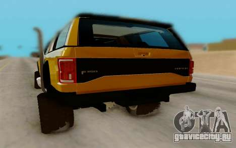 Ford F150 Raptor 4x4 Off-Road для GTA San Andreas вид справа