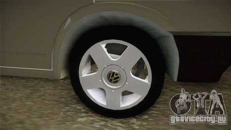 Volkswagen T4 1995 для GTA San Andreas вид сзади