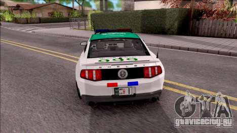 Ford Mustang Shelby GT500 Dubai HS Police для GTA San Andreas вид сзади слева