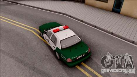 Ford Crown Victoria Flint County Sheriff 2010 для GTA San Andreas вид сзади