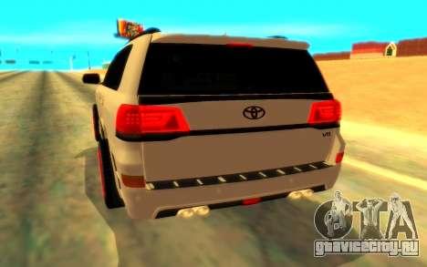 Toyota LC 200 Mz Speed для GTA San Andreas вид справа