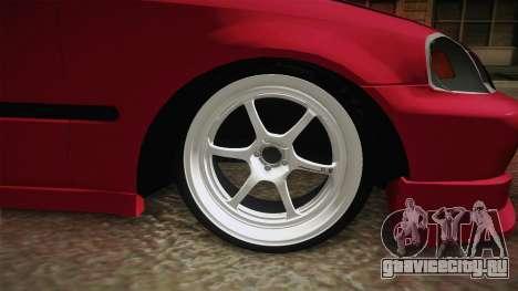 Honda Civic EK9 Stance для GTA San Andreas вид сзади