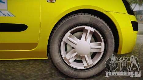 Renault Symbol Taxi для GTA San Andreas вид сзади слева