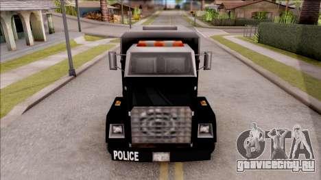 Enforcer from GTA 3 для GTA San Andreas вид изнутри