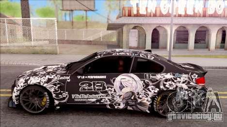 BMW M3 E92 2B of NieR: LB Performance для GTA San Andreas вид слева