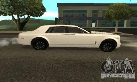 Rolls-Royce Phantom Armenian для GTA San Andreas вид сзади слева