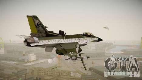F-16A Luftwaffe WW2 для GTA San Andreas вид слева