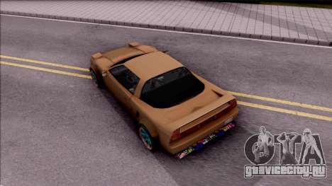 Infernus Tuning для GTA San Andreas вид сзади