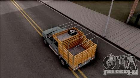 Nissan Frontier для GTA San Andreas вид сзади