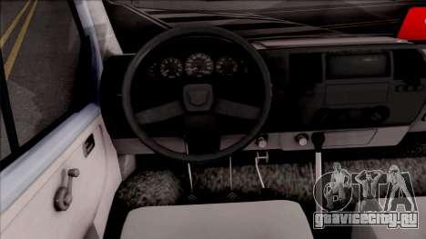 Iveco Daily для GTA San Andreas вид изнутри