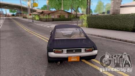 Driver PL Bonsai V.2 для GTA San Andreas вид сзади слева