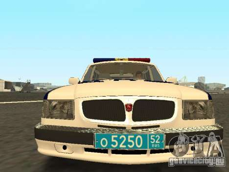 ГАЗ 310221 ДПС Полиция для GTA San Andreas вид сзади слева