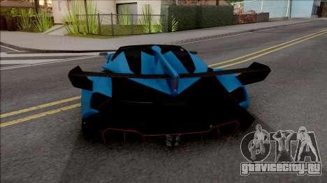 Lamborghini Veneno Roadster v.1 для GTA San Andreas вид сзади слева