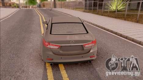 Mazda 6 2016 для GTA San Andreas вид сзади слева