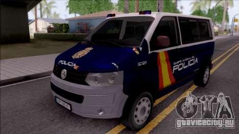 Volkswagen Transporter Spanish Police для GTA San Andreas
