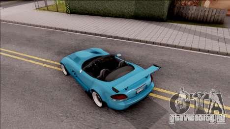 Dodge Viper SRT-10 Widebody 2003 для GTA San Andreas вид сзади