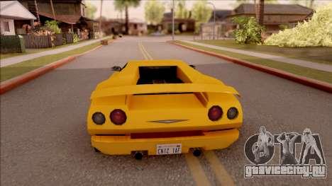 Pegassi Volpe 1994 для GTA San Andreas вид сзади слева