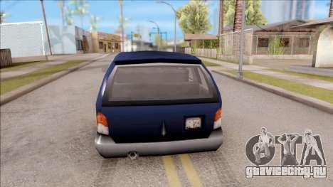 Blista From GTA 3 для GTA San Andreas вид сзади слева
