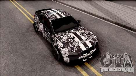 BMW M3 E92 2B of NieR: LB Performance для GTA San Andreas вид справа