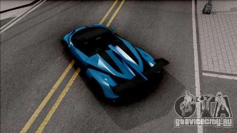 Lamborghini Veneno Roadster v.1 для GTA San Andreas вид сзади