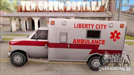 Amblulance From GTA 3 для GTA San Andreas вид слева