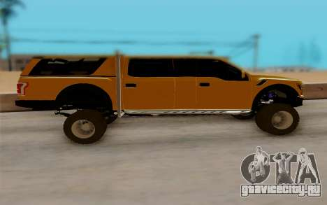 Ford F150 Raptor 4x4 Off-Road для GTA San Andreas вид слева