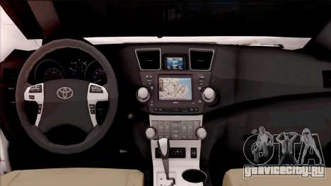 Toyota Hilux 2016 для GTA San Andreas вид изнутри
