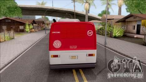 GTA V Brute Bus IVF для GTA San Andreas вид сзади слева