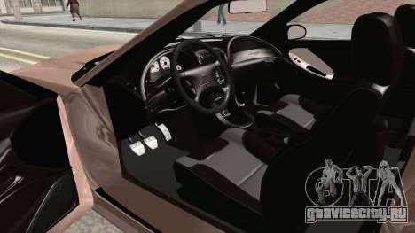 Saleen S281 2000 для GTA San Andreas вид изнутри
