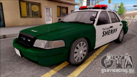 Ford Crown Victoria Flint County Sheriff 2010 для GTA San Andreas