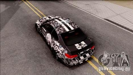 BMW M3 E92 2B of NieR: LB Performance для GTA San Andreas вид сзади